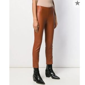 Theory for Bergdorf Goodman leather pants